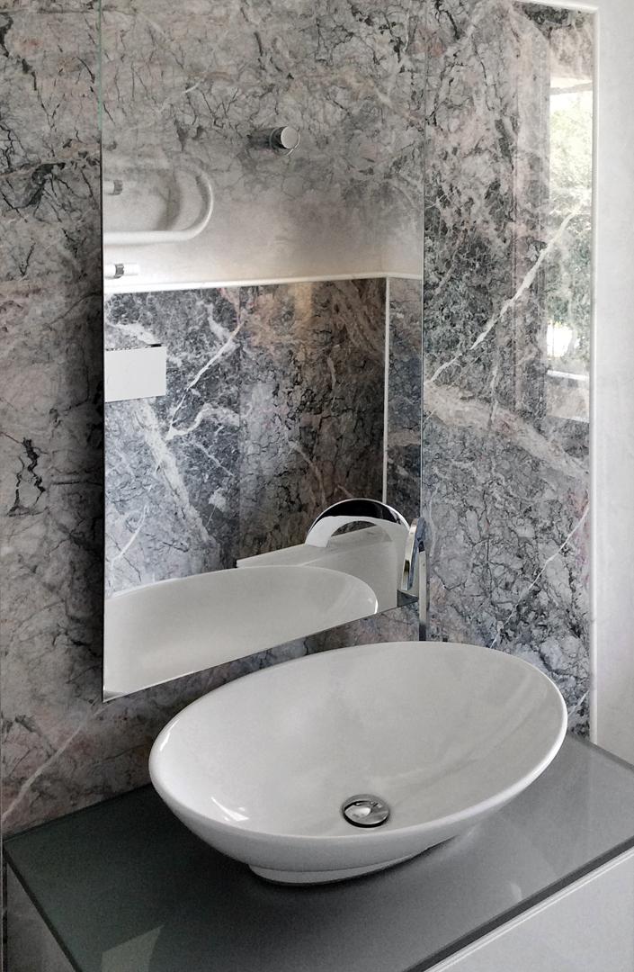 Bathroom In Marble Grigio Fior Di Pesco Carnico Calacatta